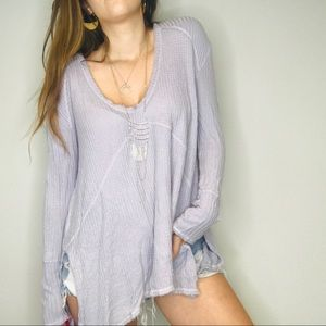 Free People light gray sunset park thermal